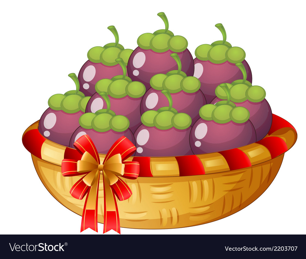 A basket of eggplants vector | Price: 1 Credit (USD $1)