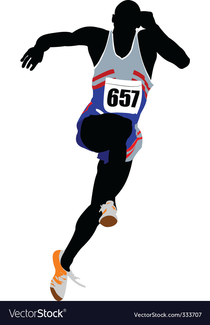 Athlete running vector | Price: 1 Credit (USD $1)