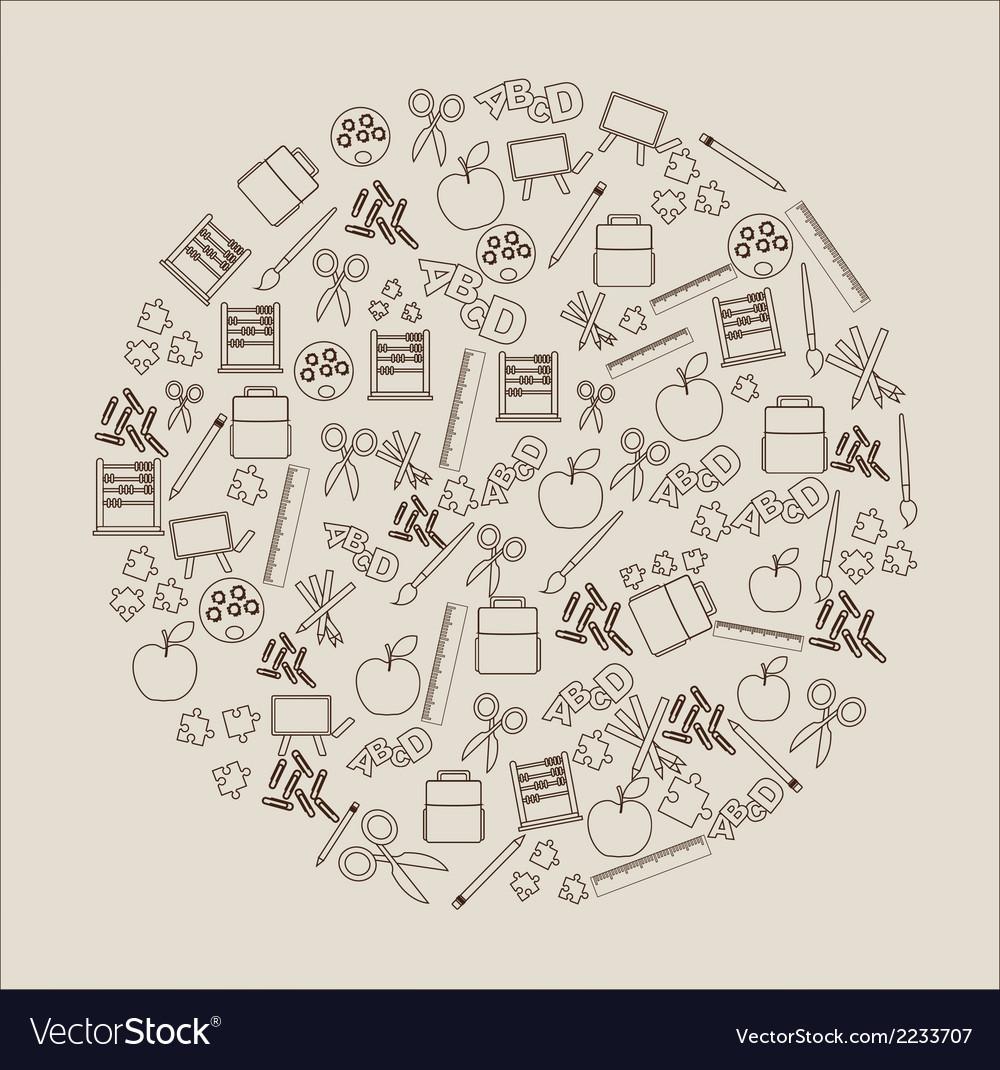 Elements school vector | Price: 1 Credit (USD $1)