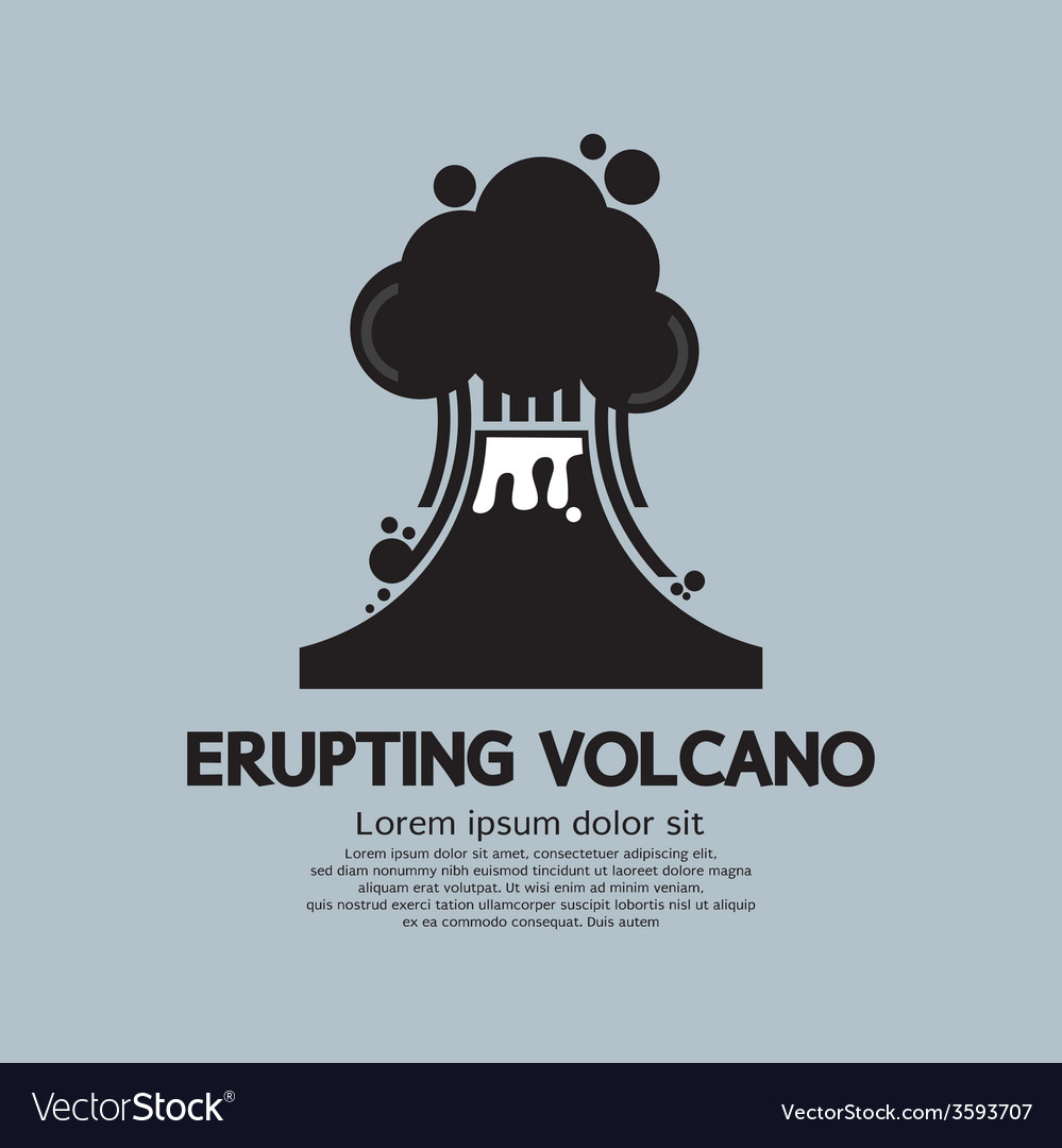 Erupting volcano natural disaster vector | Price: 1 Credit (USD $1)