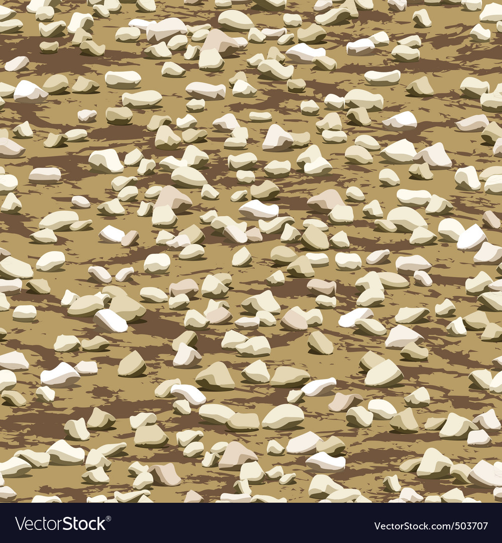 Gravel on earth seamless texturewallpaper pattern vector