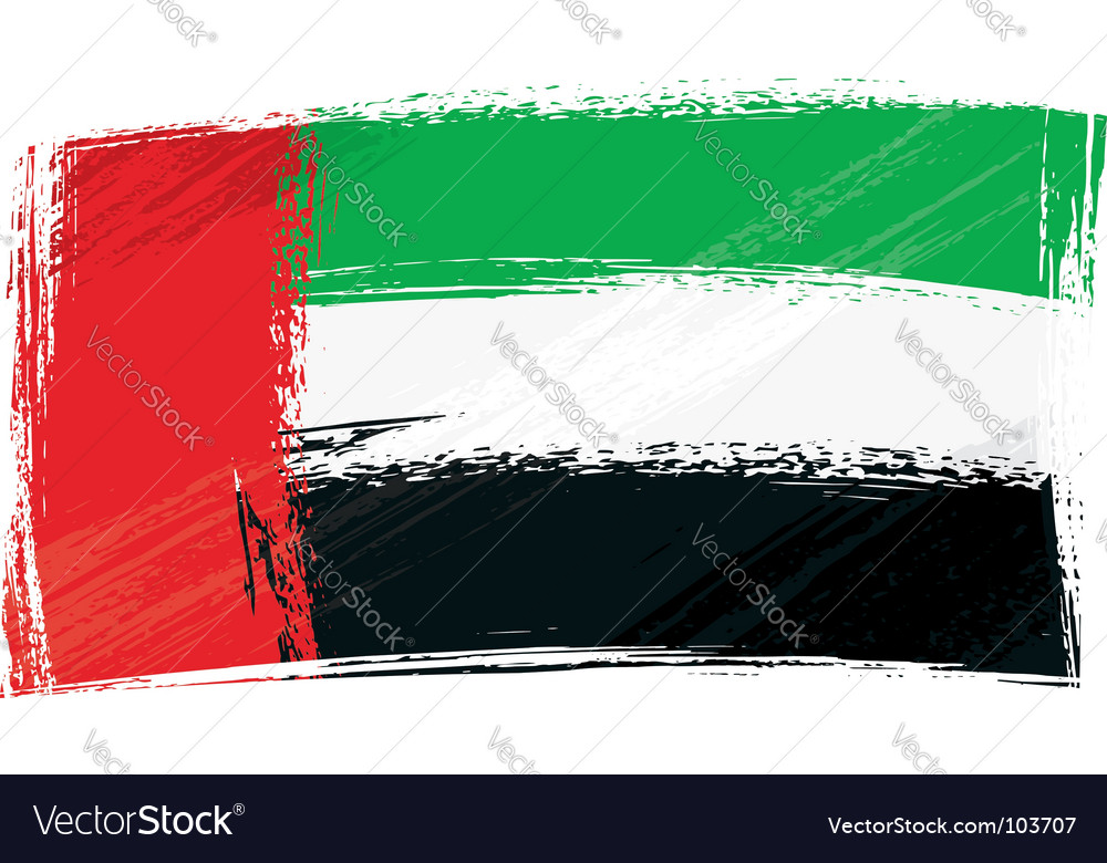Grunge united arab emirates flag vector | Price: 1 Credit (USD $1)