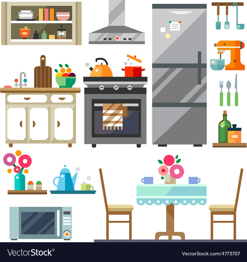 Home furniture vector