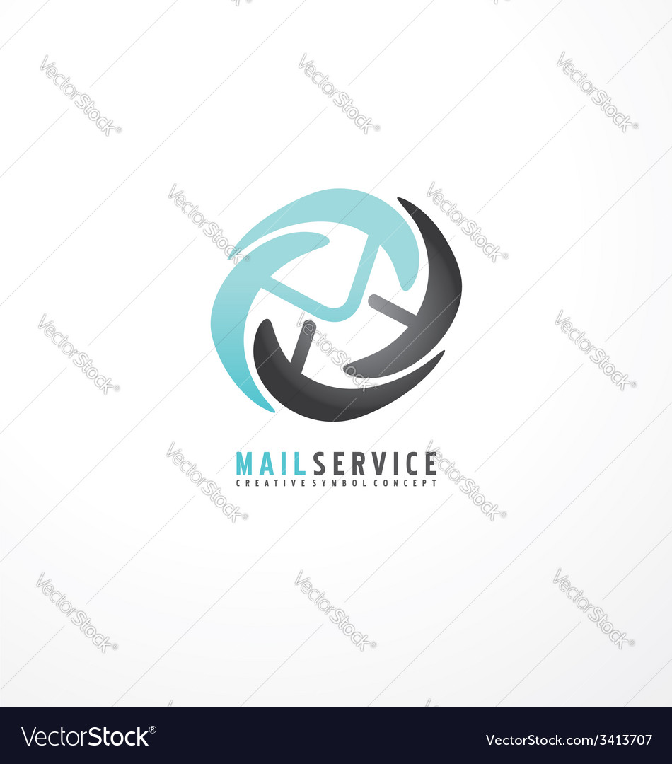 Mail service logo design template vector | Price: 1 Credit (USD $1)