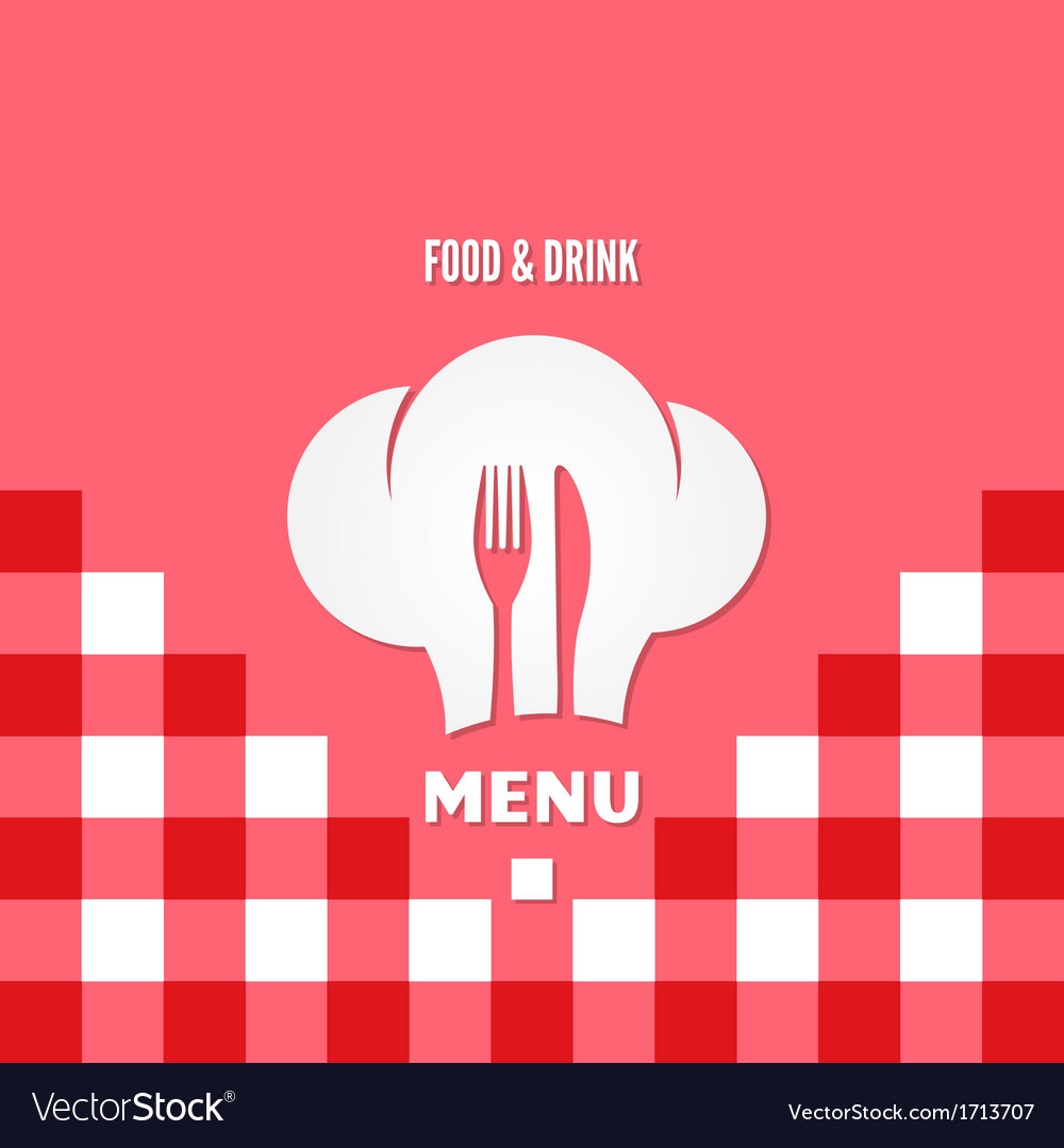Menu chef design background vector | Price: 1 Credit (USD $1)