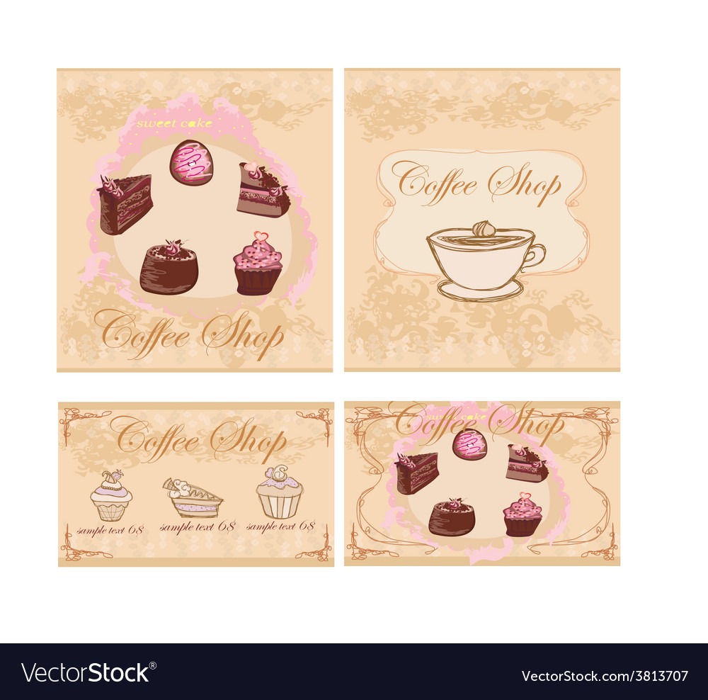 Menu coffee shop set vector | Price: 1 Credit (USD $1)