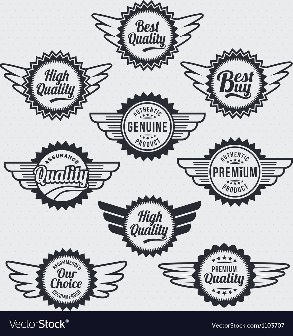 Retro vintage label badge set vector | Price: 1 Credit (USD $1)