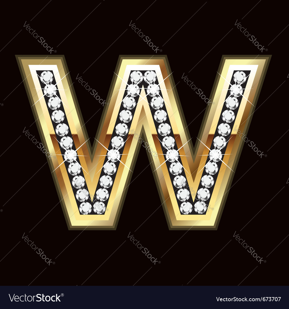 W bling vector | Price: 1 Credit (USD $1)