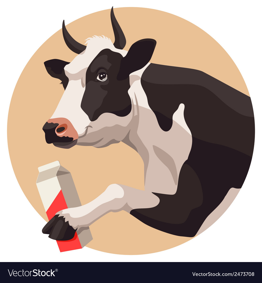 Cow and milk vector | Price: 1 Credit (USD $1)