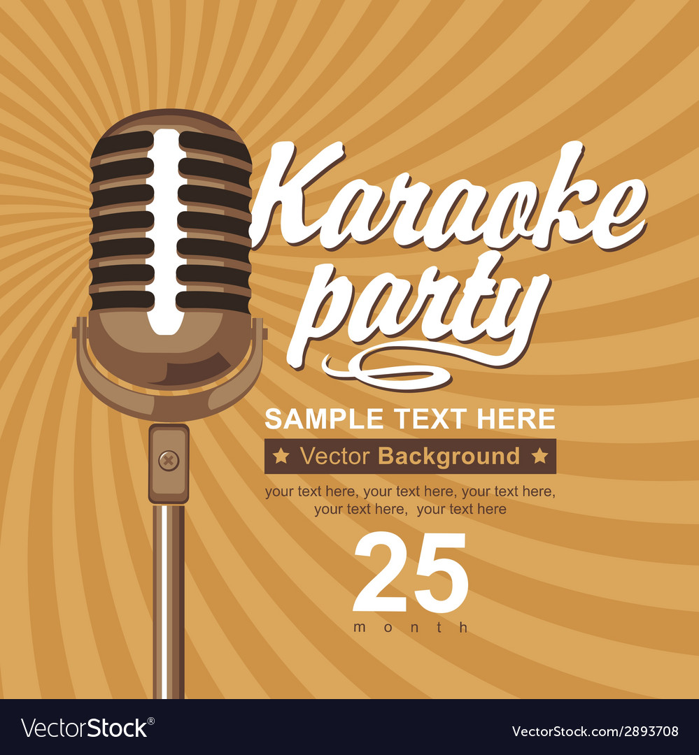 Karaoke party vector | Price: 1 Credit (USD $1)