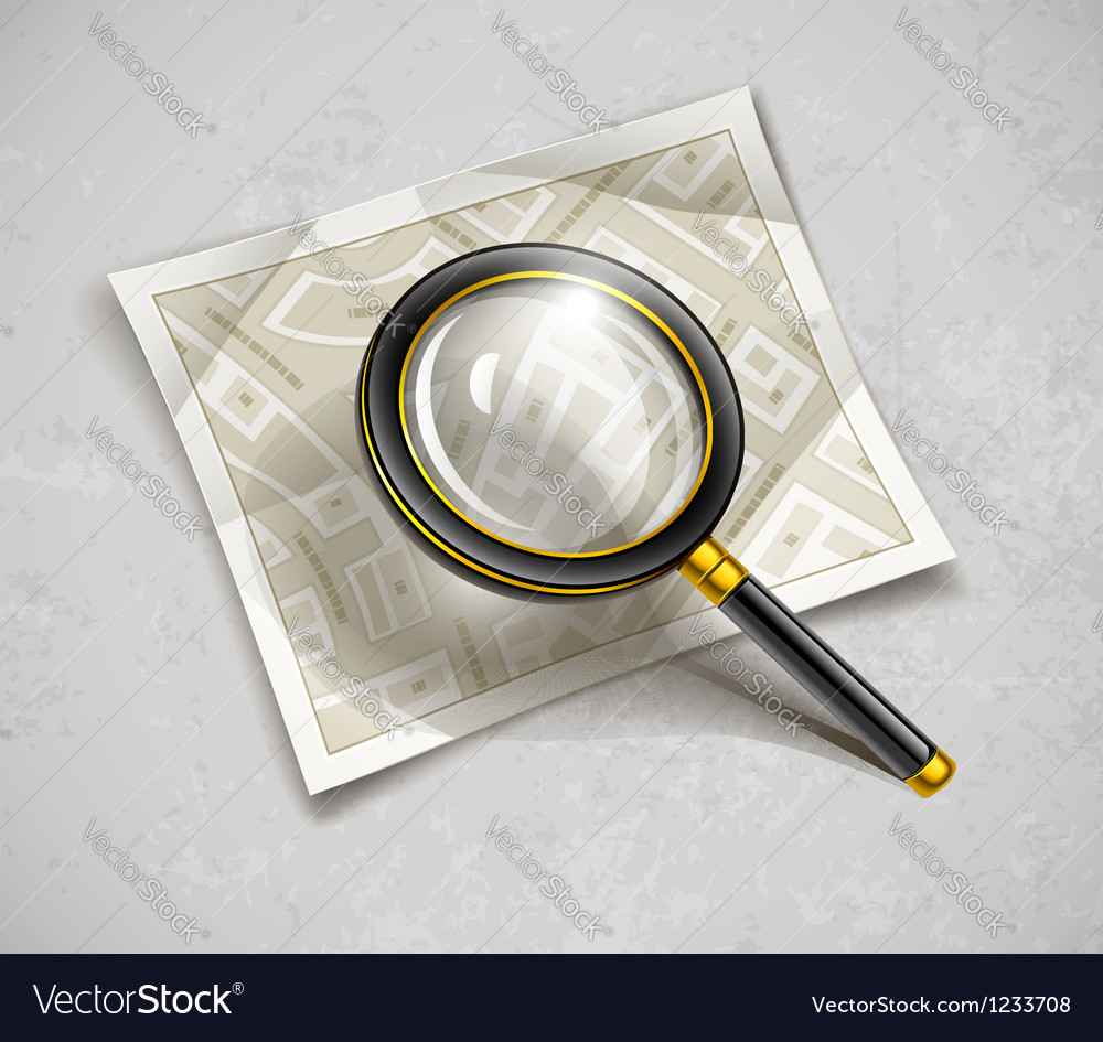 Loupe magnifying glass tool vector | Price: 3 Credit (USD $3)
