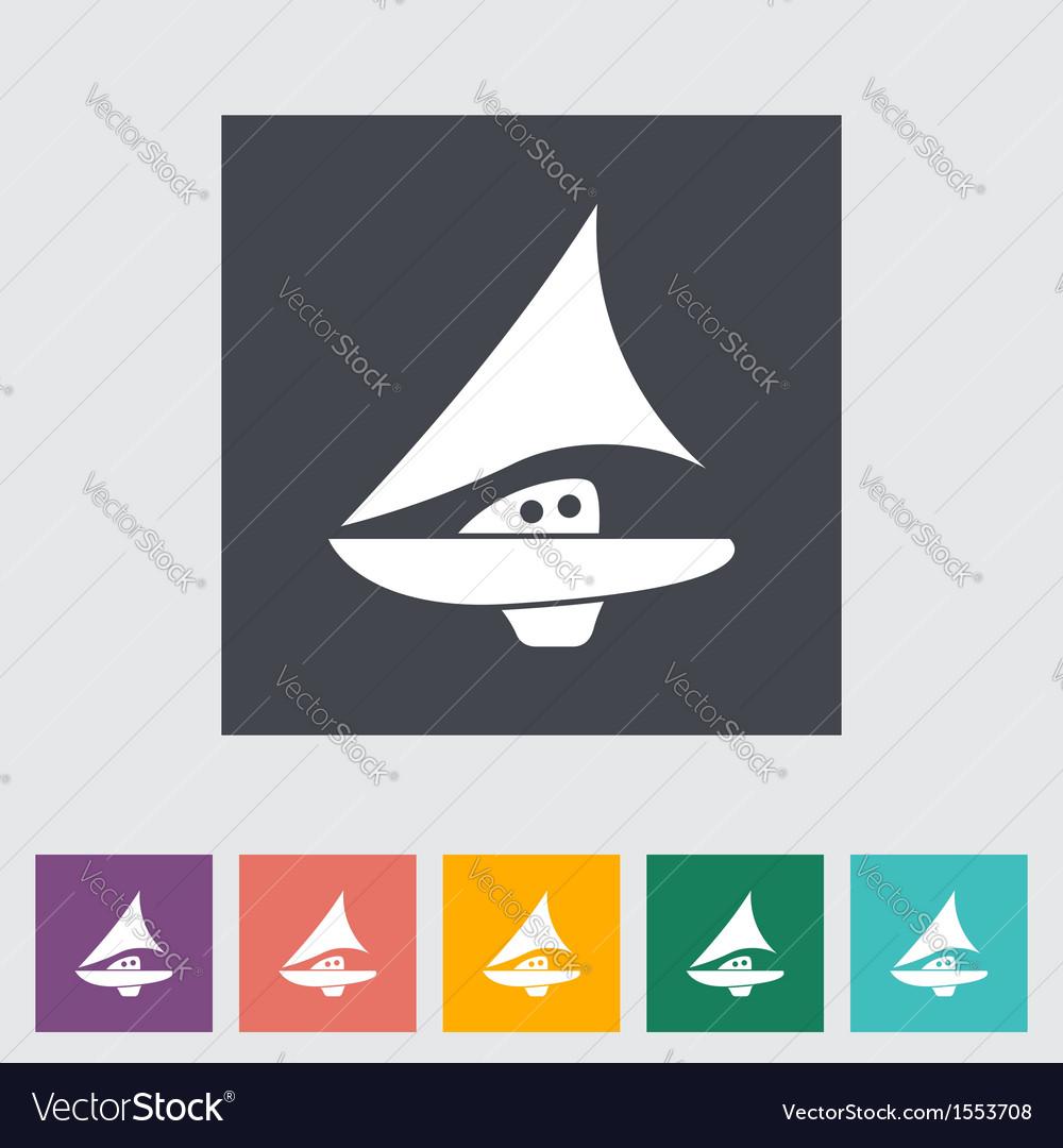 Pleasure boat vector | Price: 1 Credit (USD $1)