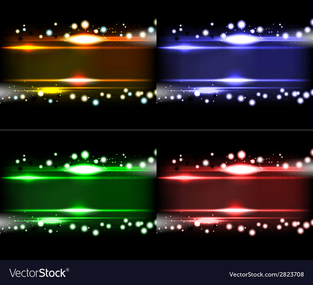 Set purple smooth technology light lines vector | Price: 1 Credit (USD $1)
