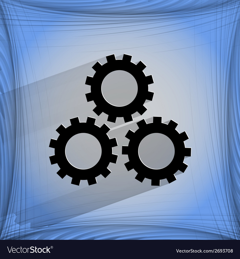 Settings sign web icon on a flat geometric vector | Price: 1 Credit (USD $1)