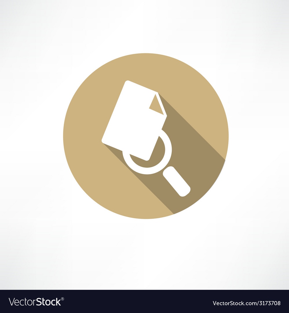 Sheet with magnifying glass icon vector | Price: 1 Credit (USD $1)