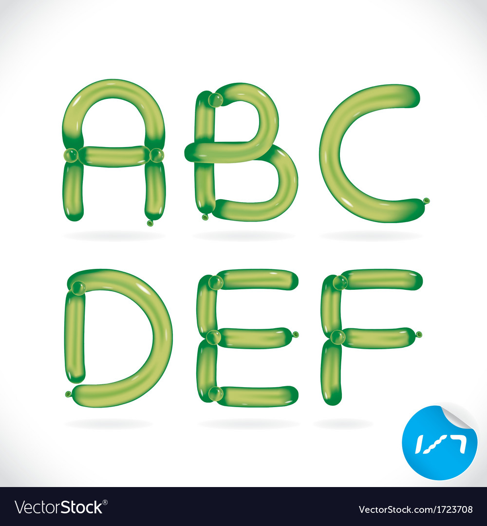 Unique glossy balloon alphabet vector | Price: 1 Credit (USD $1)