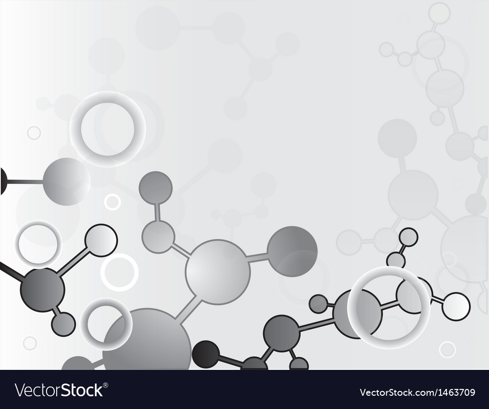 Abstract molecular structure background vector | Price: 1 Credit (USD $1)