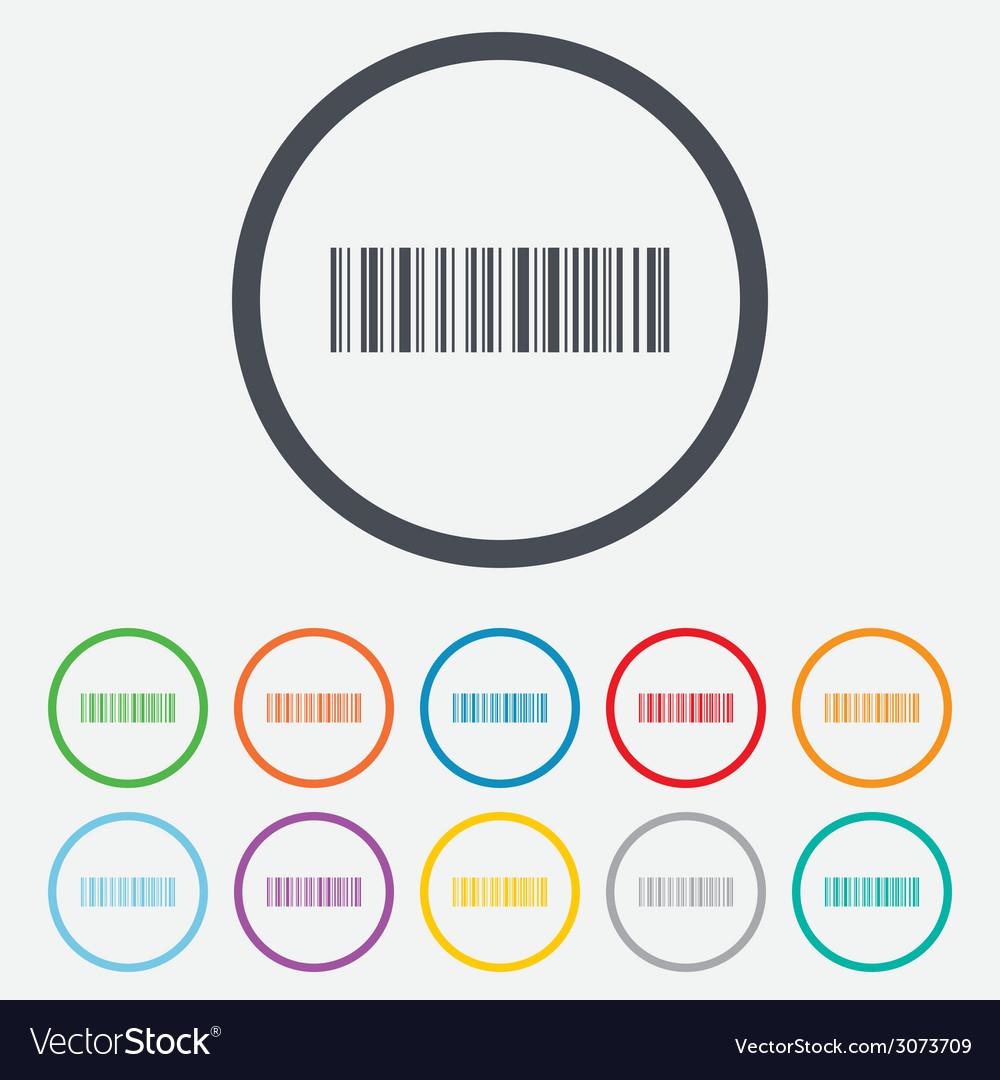 Bar code sign icon scan code symbol vector   Price: 1 Credit (USD $1)