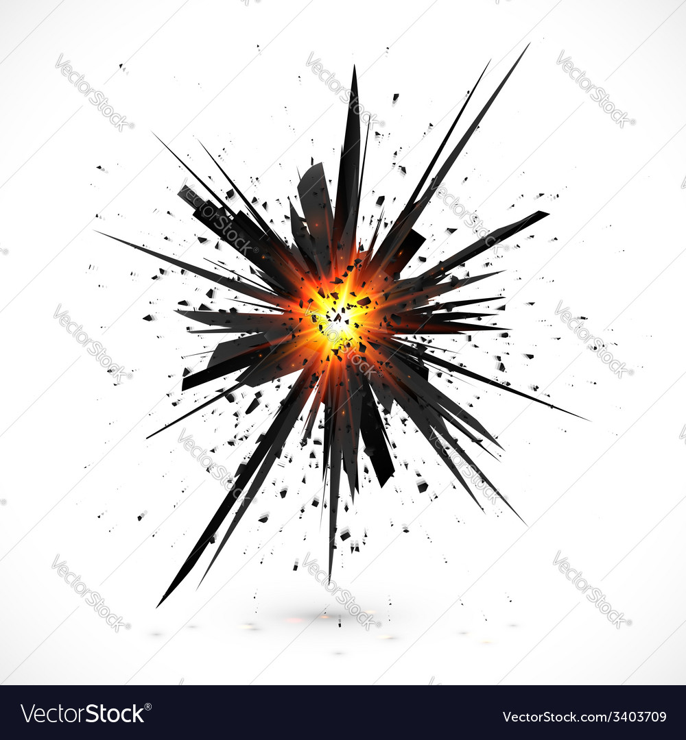 Black isolated explosion with particles vector | Price: 1 Credit (USD $1)