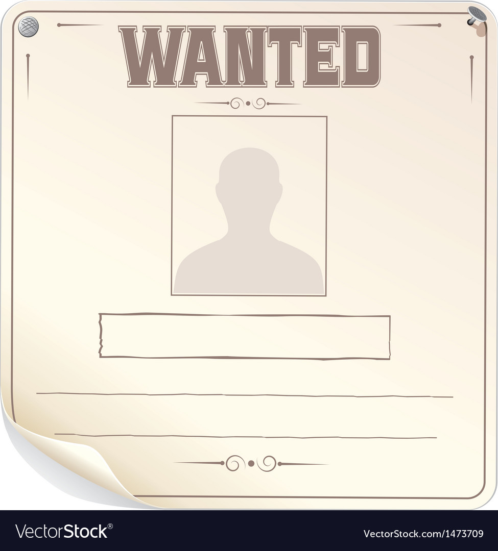 Blank wanted poster vector | Price: 1 Credit (USD $1)