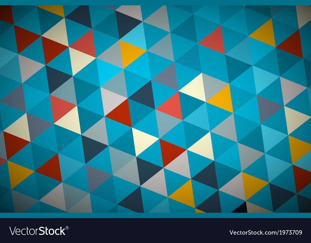 Blue abstract triangle retro - modern background vector   Price: 1 Credit (USD $1)