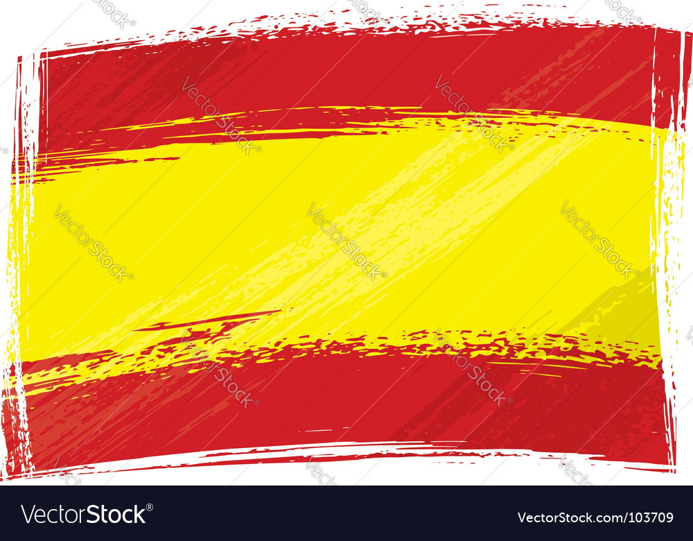 Grunge spain flag vector | Price: 1 Credit (USD $1)