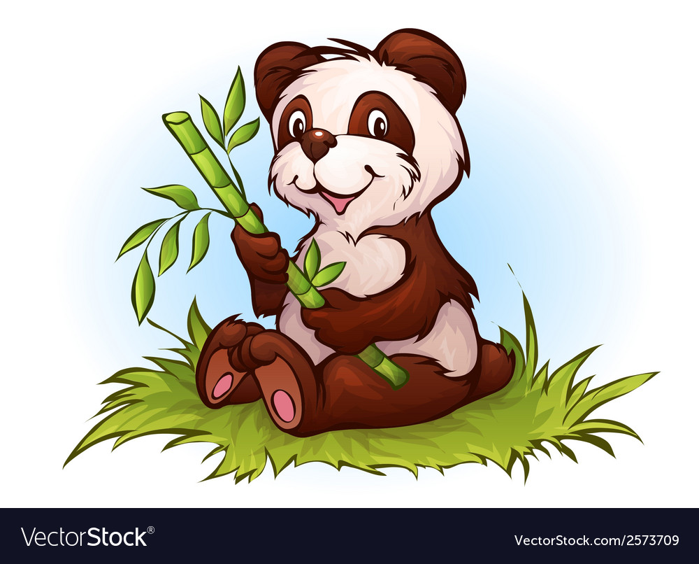 Panda in cartoon style vector | Price: 1 Credit (USD $1)