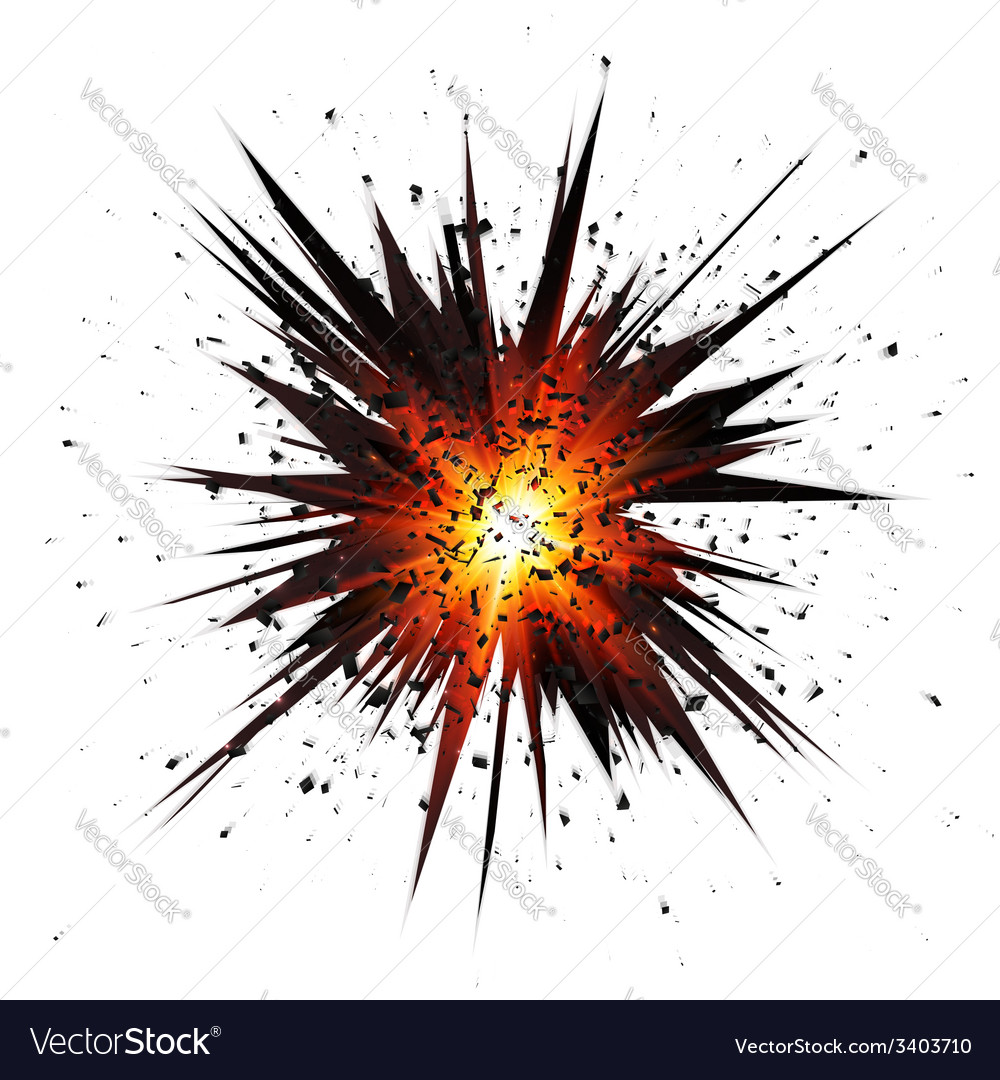 Black isolated star explosion with particles vector | Price: 1 Credit (USD $1)