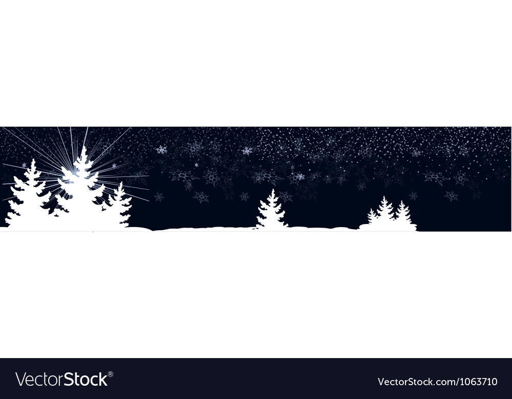 Dark blue banner with christmas trees vector | Price: 1 Credit (USD $1)