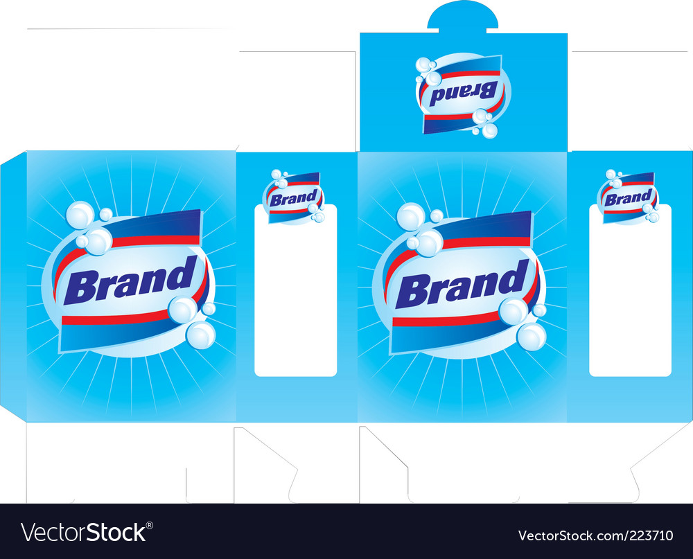 Detergent box template vector | Price: 1 Credit (USD $1)