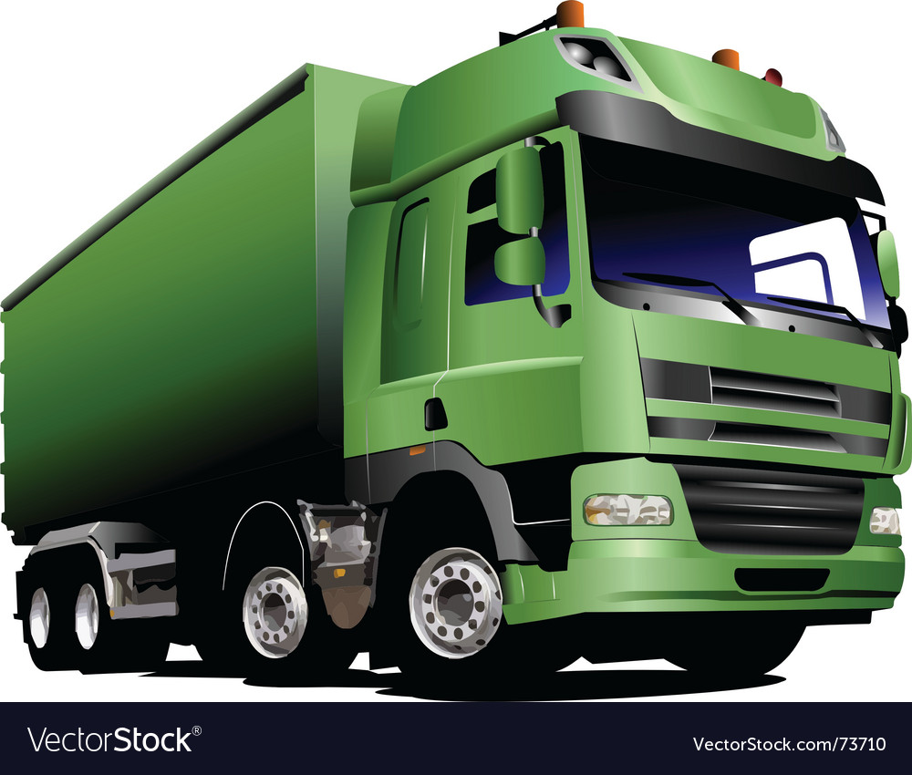Lorry truck vector | Price: 1 Credit (USD $1)