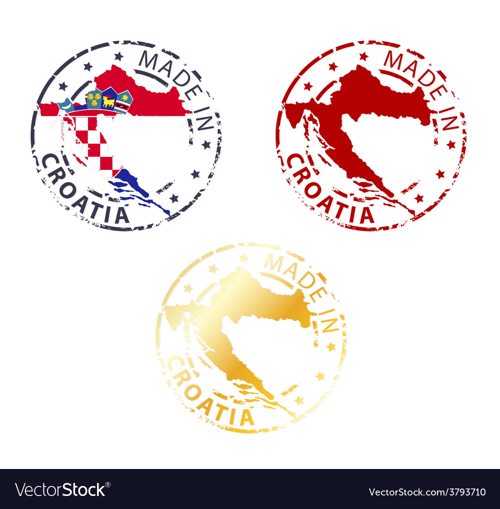 Made in croatia stamp vector | Price: 1 Credit (USD $1)
