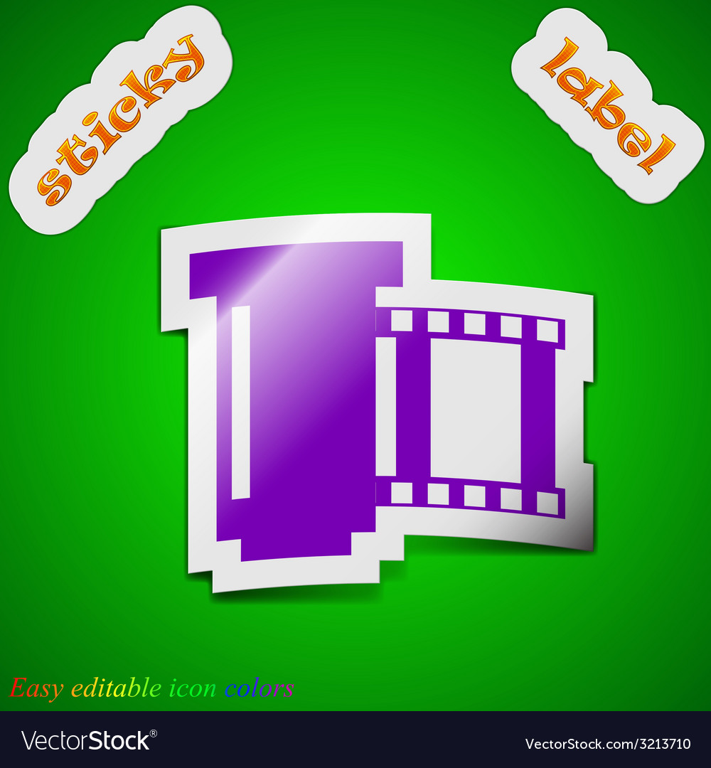 Negative films icon sign symbol chic colored vector | Price: 1 Credit (USD $1)