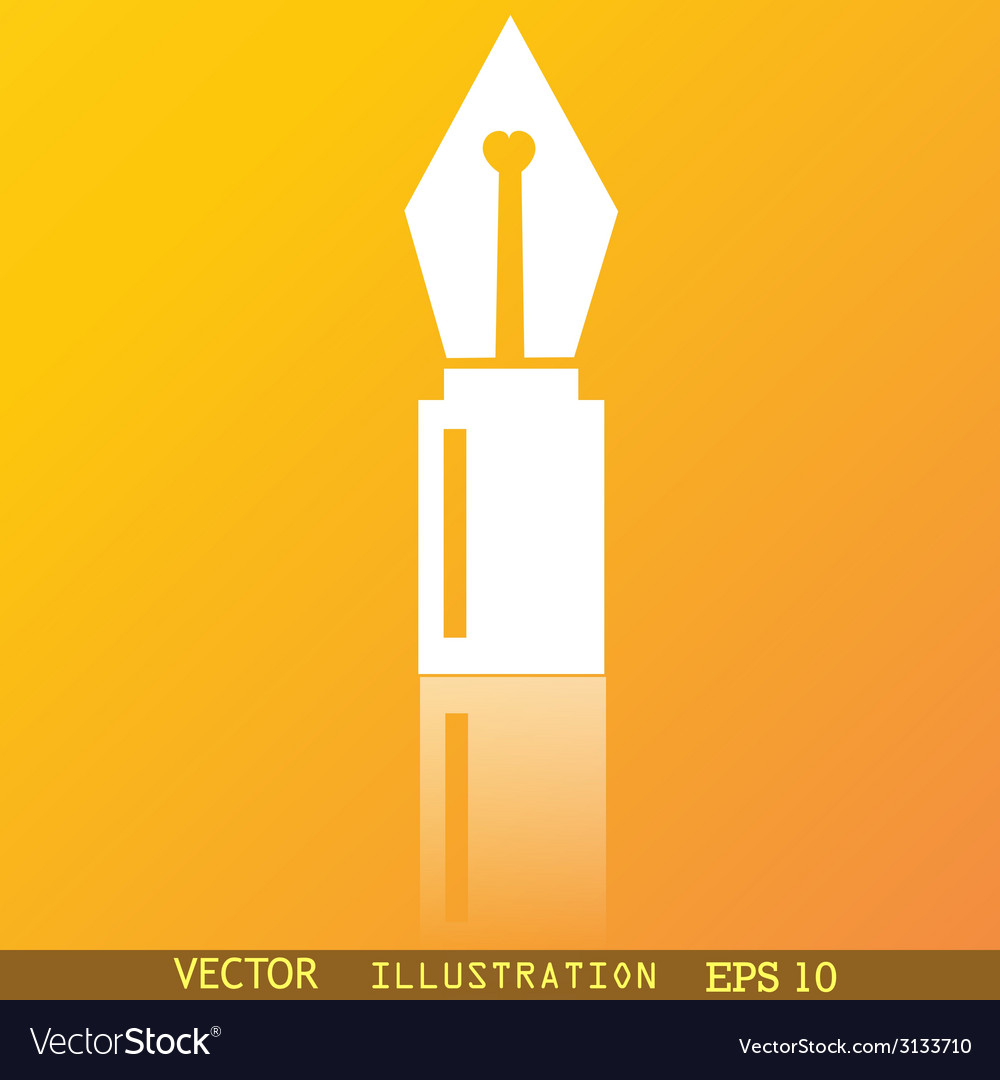 Pen icon symbol flat modern web design with vector | Price: 1 Credit (USD $1)