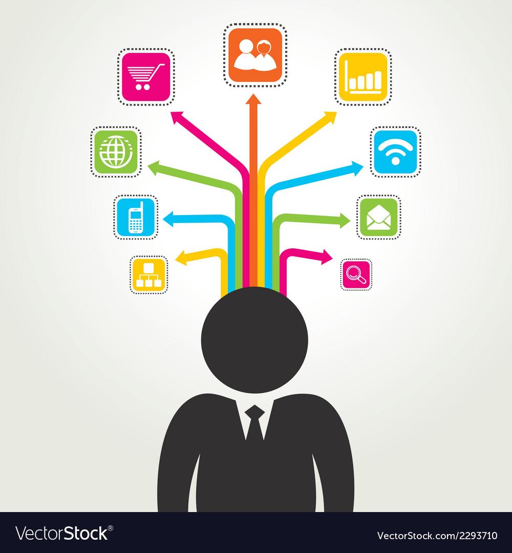 Social media word icon stock vector | Price: 1 Credit (USD $1)