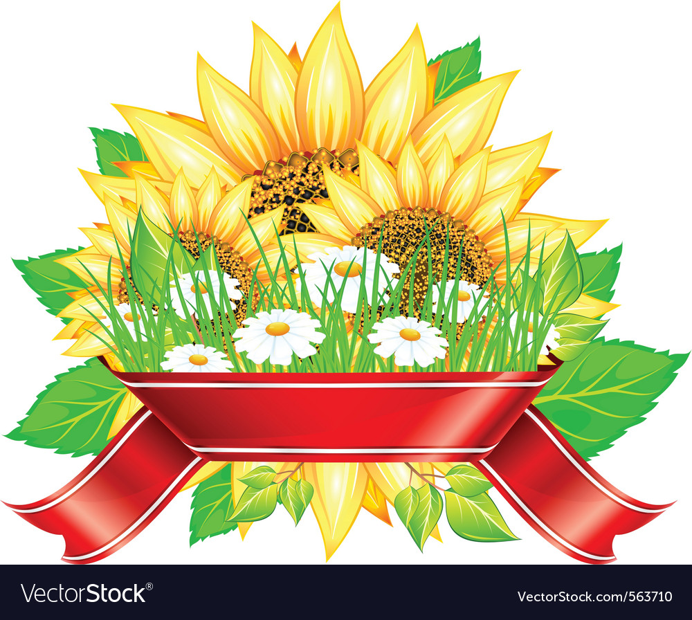 Sunflower label design vector | Price: 1 Credit (USD $1)
