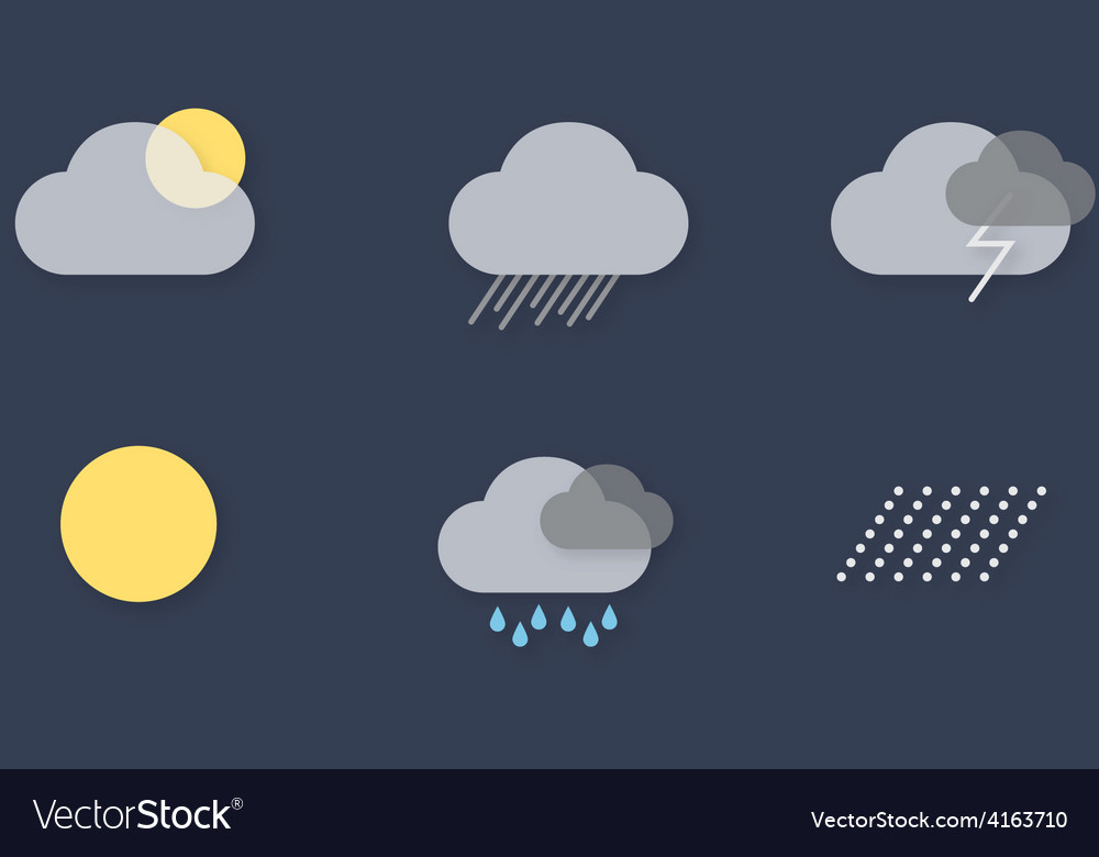 Ui weather icons vector | Price: 1 Credit (USD $1)