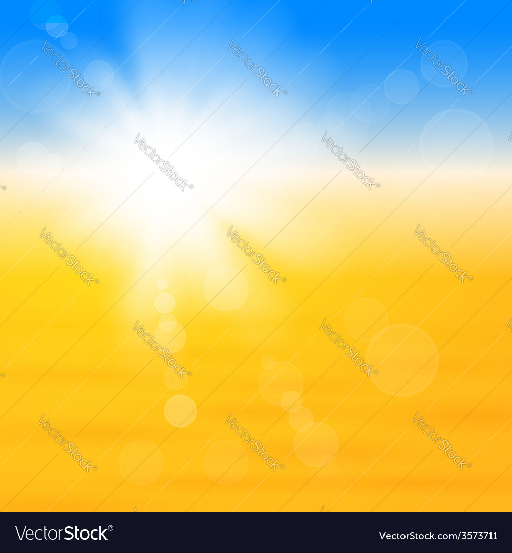 Background with shiny sun over the sand vector | Price: 1 Credit (USD $1)