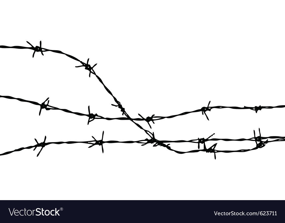 Barbed wire silhouette vector | Price: 1 Credit (USD $1)