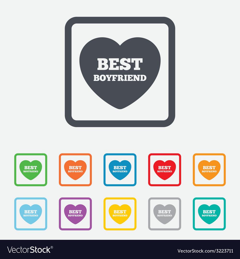 Best boyfriend sign icon heart love symbol vector | Price: 1 Credit (USD $1)