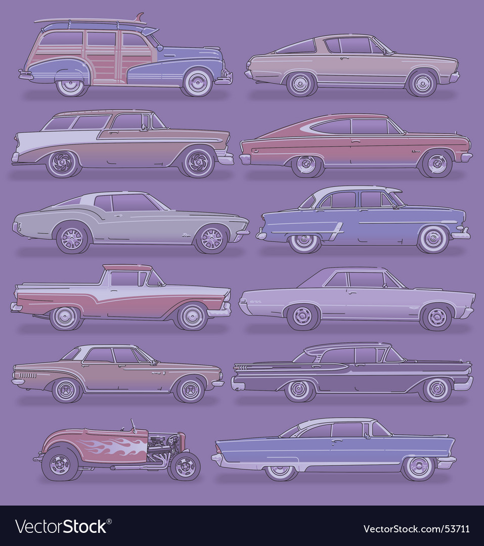 Classic cars vector | Price: 5 Credit (USD $5)