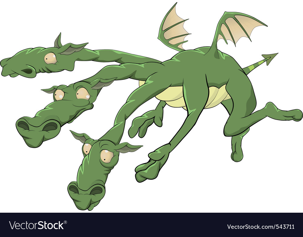 Dragon from a fairy tale vector | Price: 3 Credit (USD $3)