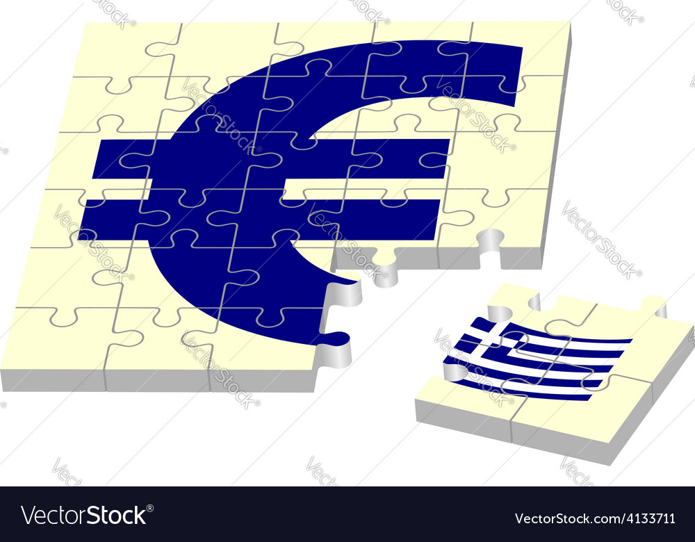 Euro without greece vector | Price: 1 Credit (USD $1)