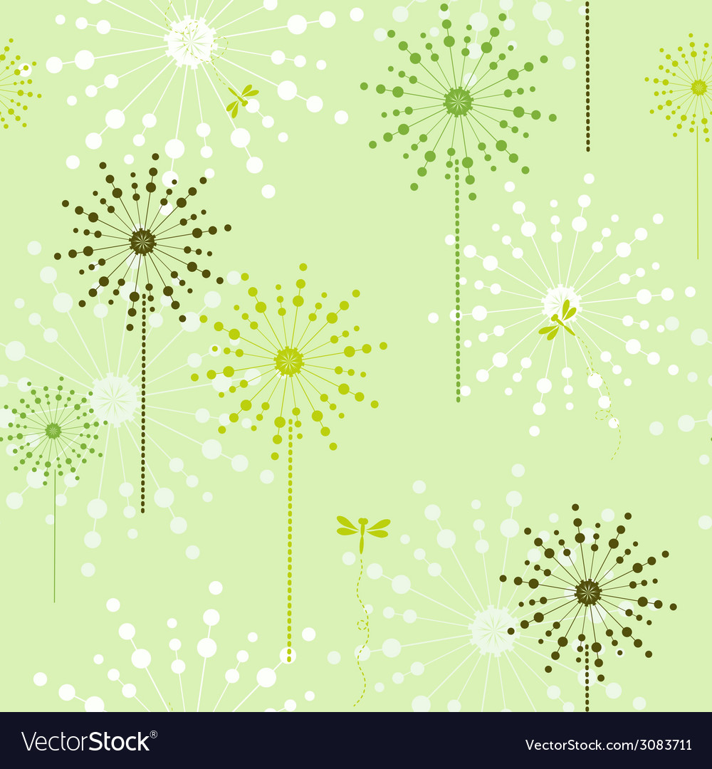 Floral green ecological seamless vector | Price: 1 Credit (USD $1)