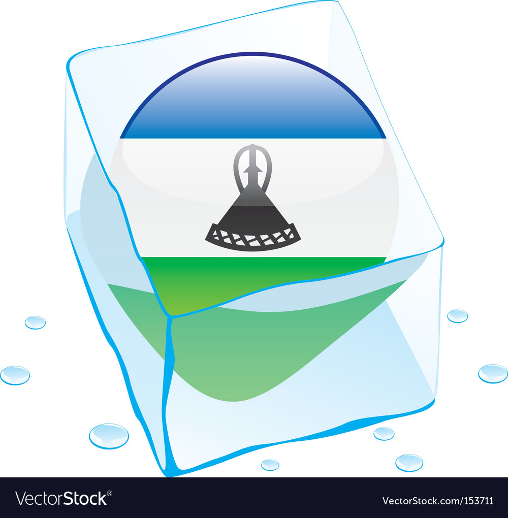 Lesotho flag vector | Price: 1 Credit (USD $1)