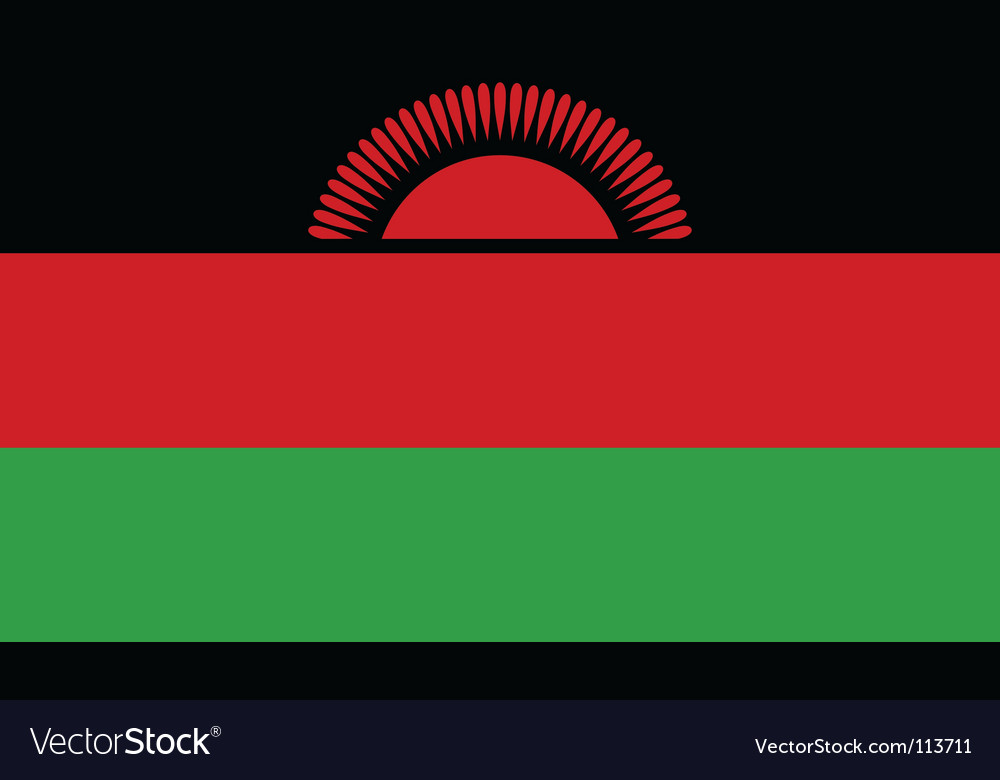 Malawi flag vector | Price: 1 Credit (USD $1)