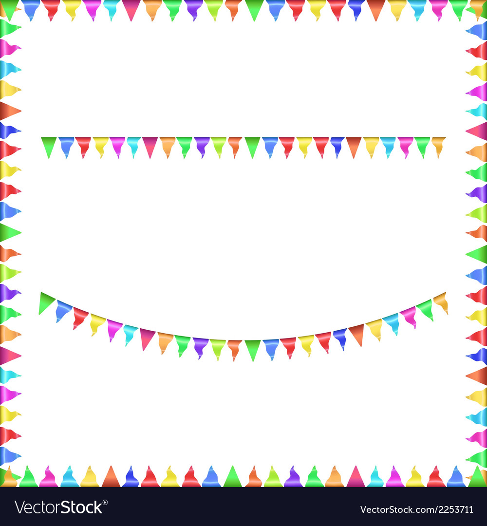 Party flags vector | Price: 1 Credit (USD $1)