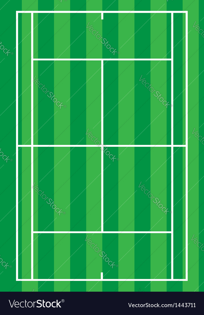 Sport tennis court vector | Price: 1 Credit (USD $1)
