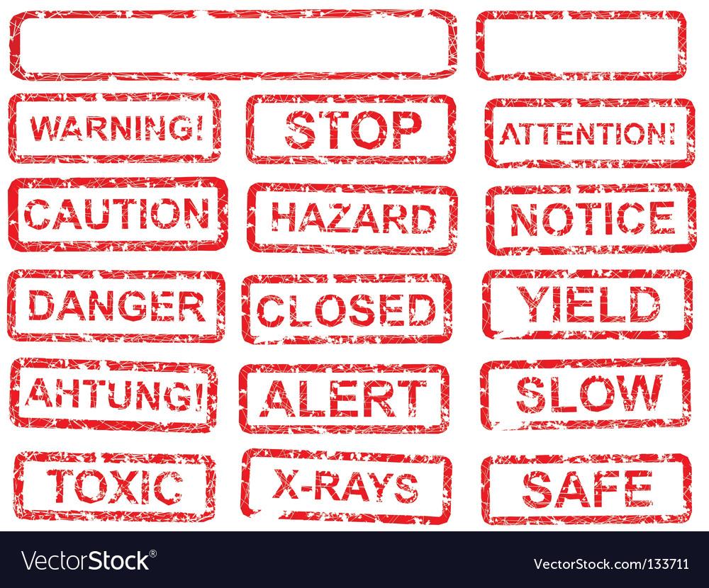 Warning sign set vector   Price: 1 Credit (USD $1)
