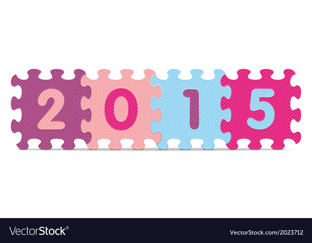 2015 written with alphabet puzzle vector   Price: 1 Credit (USD $1)